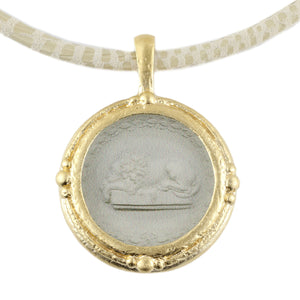 Fob Necklace, Intaglio Lion