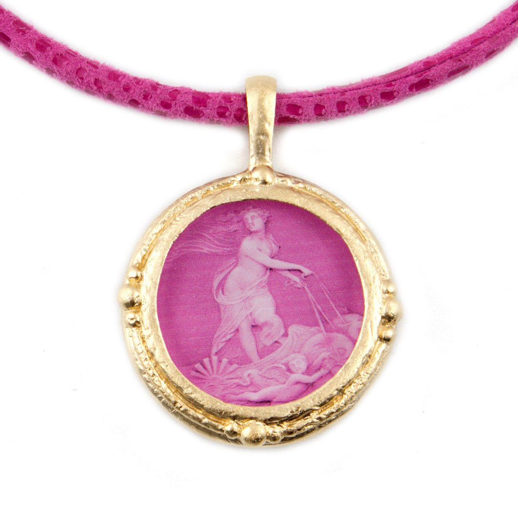 Fob Necklace, Venus in Pink