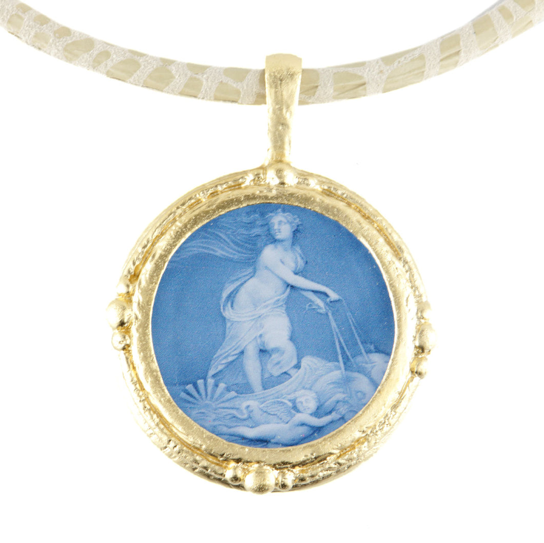 Fob Necklace, Venus in Blue