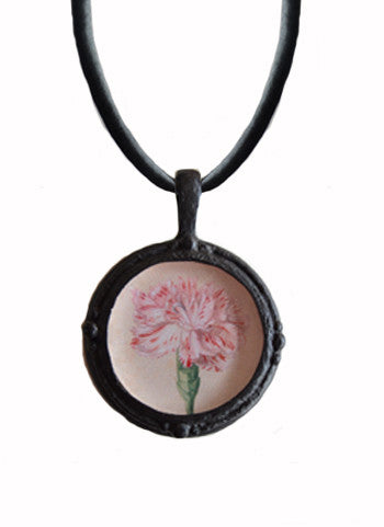 Fob Necklace, Carnation