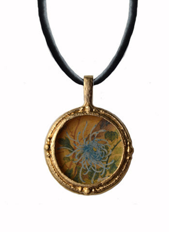 Fob Necklace, Chrysanthemum