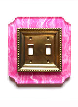 Load image into Gallery viewer, Acrylic + Brass | Georgian Style, Pink Agate
