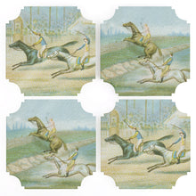 Load image into Gallery viewer, Coasters | Horse Race, set of four