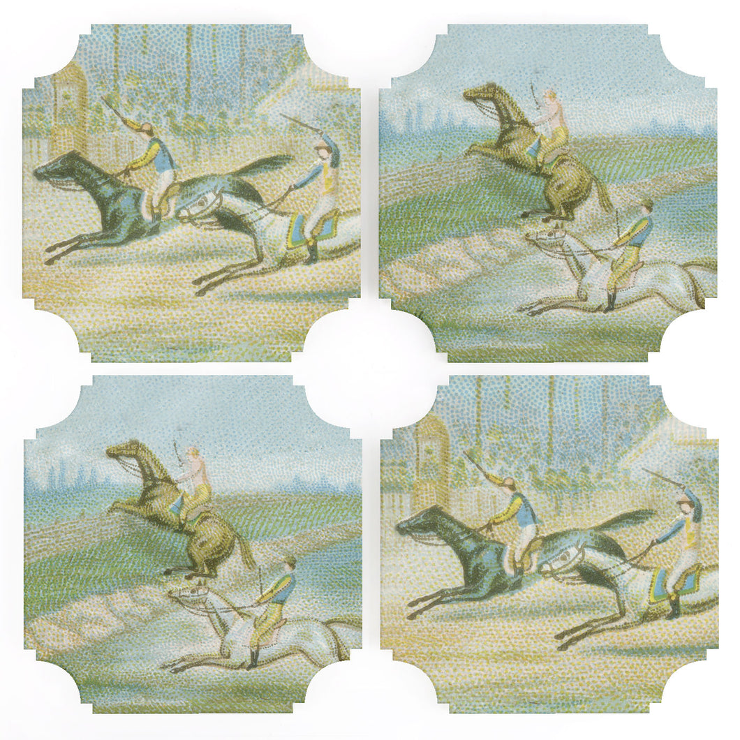 Coasters | Horse Race, set of four