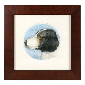 Reprotique Framed Woodcuts of Dogs - Framed