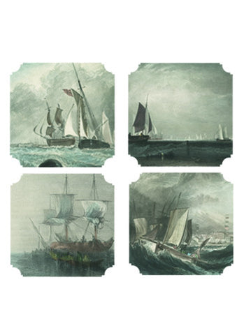 Coasters | Nautical, set of four