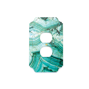 Printed Outlet Cover Plate | Malachite