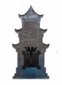 Pagoda Sconce, Silvered