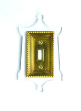 Load image into Gallery viewer, Acrylic + Brass | Pagoda Style, Clear