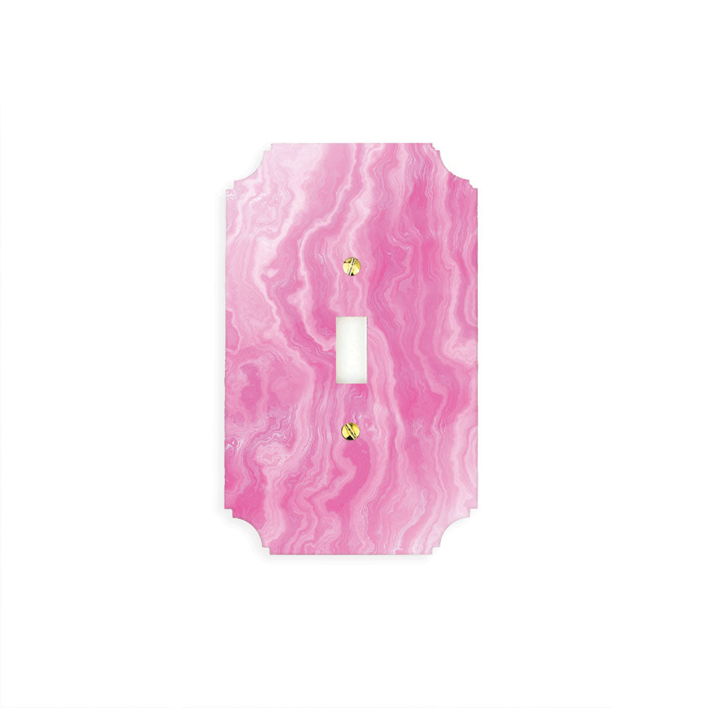 Printed Switch Plates | Pink Agate Collection