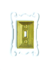Acrylic + Brass | Rococo Style, Clear