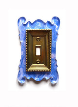 Load image into Gallery viewer, Acrylic + Brass | Rococo Style, Blue Agate