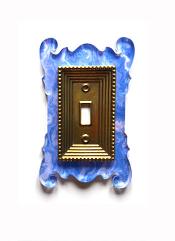 Acrylic + Brass | Rococo Style, Blue Agate