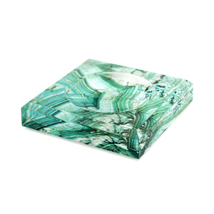 Acrylic Block Soap Dish | Malachite
