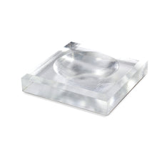 Load image into Gallery viewer, Acrylic Block Soap Dish | Silver Leaf