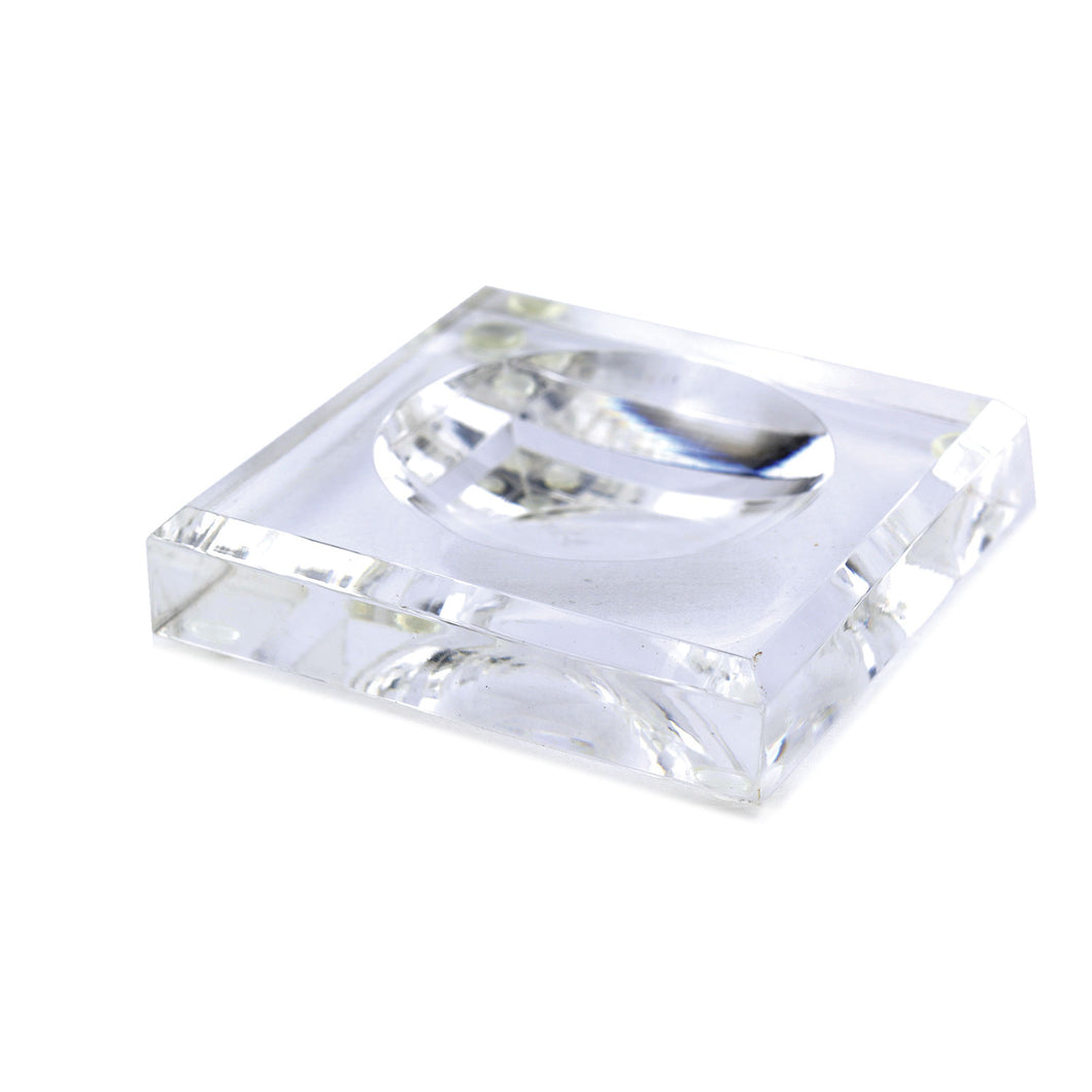 Acrylic Block Soap Dish | Clear