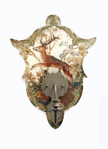 Shield Sconce, Green Stag