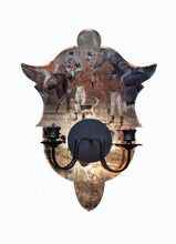 Load image into Gallery viewer, Shield Sconce, Hunt Scenes
