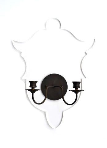 Shield Sconce, Clear Acrylic