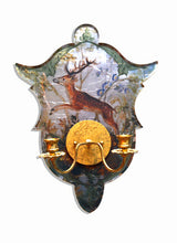 Load image into Gallery viewer, Shield Sconce, Green Stag