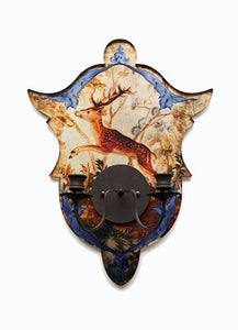 Shield Sconce, Mirrored Stag