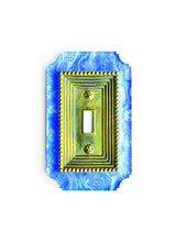 Load image into Gallery viewer, Acrylic + Brass | Georgian Style, Blue Agate