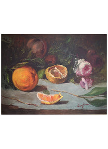 Still Life, Orange & Rose, 19th c.