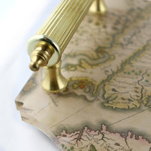 Load image into Gallery viewer, Acrylic Tray - Virginia Map with Brass Handles