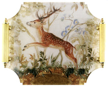 Load image into Gallery viewer, Acrylic Tray - Stag with Brass Handles