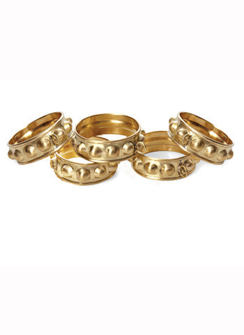 Brass Curtain Rings, set of seven