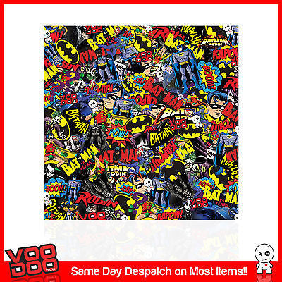 BATMAN STICKERBOMB SHEET 1500mm X 300MM (DC COMICS/ MARVEL/ CAR STICKERS) COLOUR - Voodoo Vinyls