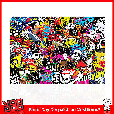 NEW STICKERBOMB LAPTOP / NETBOOK SKIN / STICKER X1 ( VARIOUS SIZES AVAILABLE) - Voodoo Vinyls