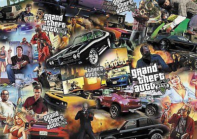 GRAND THEFT AUTO STICKERBOMB (X1 -A3 SIZE) FREE P&P!! COLOUR ( PS3 / XBOX /EURO) - Voodoo Vinyls