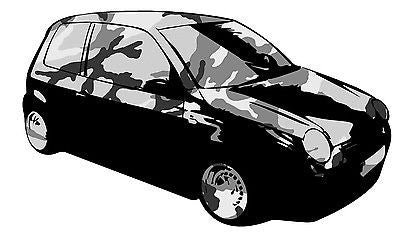 BLACK - LUPO CAMOUFLAGE GRAPHIC /STICKER( VW / STICKERBOMB STYLE) X1 - Voodoo Vinyls