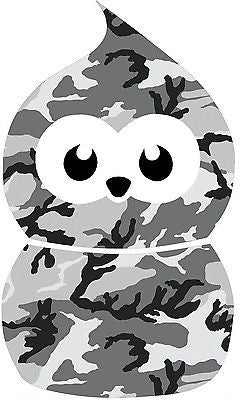 BLACK -ZINGY BLOB CAMO GRAPHIC /STICKER( VW/ STICKERBOMB / DRIFT STYLE/ EDF) X1 - Voodoo Vinyls