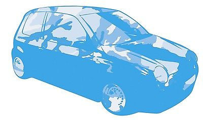 BLUE - LUPO CAMOUFLAGE GRAPHIC /STICKER( VW / STICKERBOMB STYLE) X1 - Voodoo Vinyls