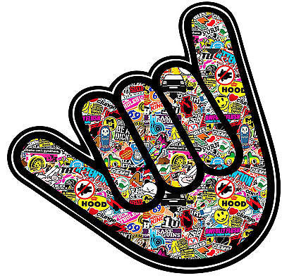 HANDWAVE/ SHOCKER STICKERBOMB GRAPHIC /STICKER(VW /DRIFT STYLE) X1 - Voodoo Vinyls