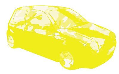 YELLOW - LUPO CAMOUFLAGE GRAPHIC /STICKER( VW / STICKERBOMB STYLE) X1 - Voodoo Vinyls