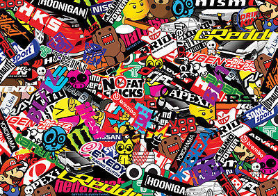 NEW JAPANESE STICKERBOMB SHEET- (X1-A3 SIZE ) FREE P&P!(EURO/ DRIFT/JDM) - Voodoo Vinyls