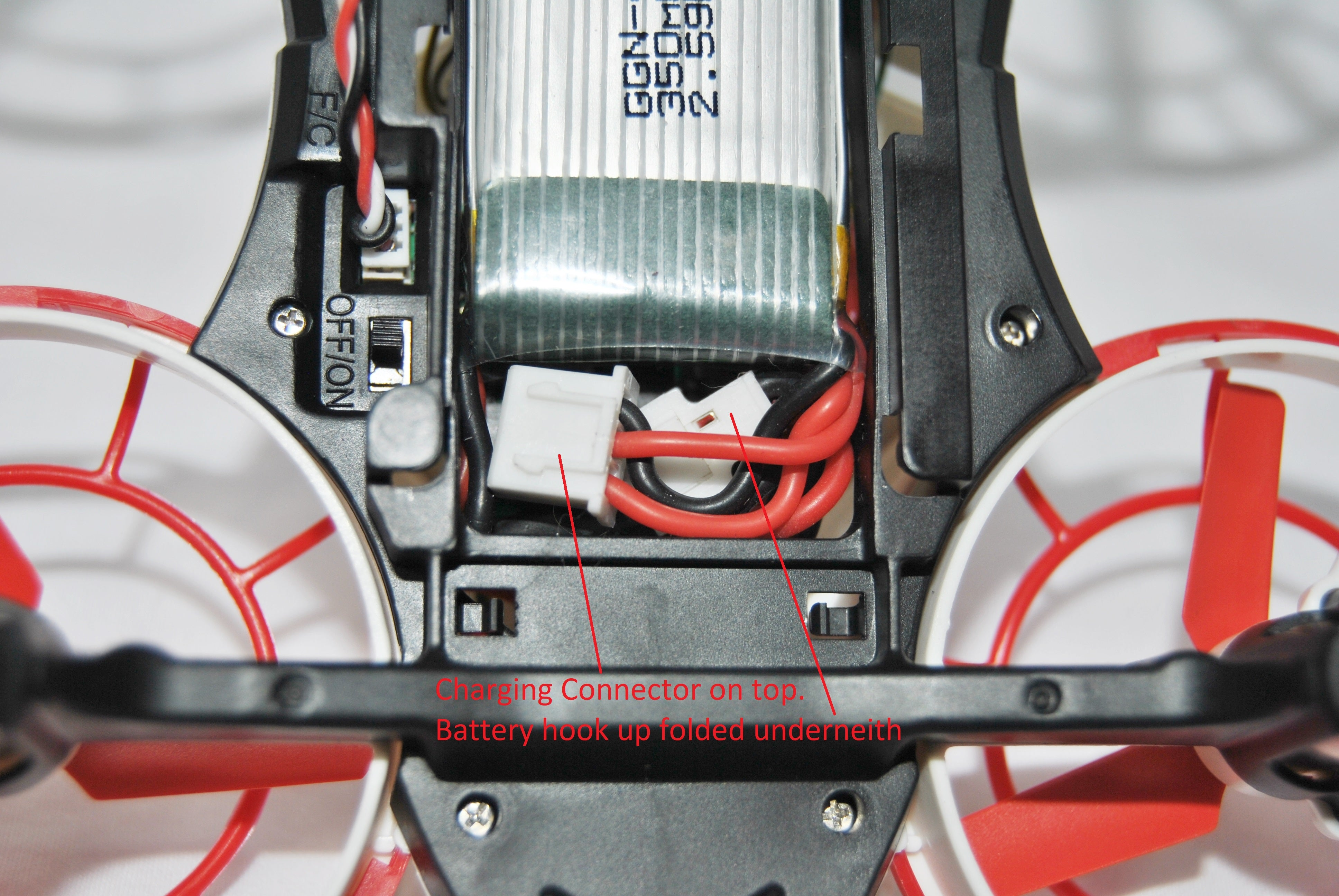 Optix Faq Litehawk Shop Nook Charger Wiring Diagram Tip When Removing Your Battery Disconnect The Drone From By Pulling On Connectors And Not Wires That Way You Wont Break