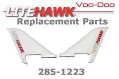 285-1223 VOODOO Vertical Stabilizers Tail Set