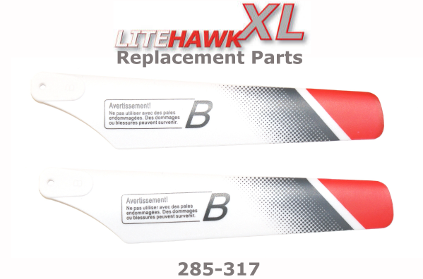 "285-317 XL (Silver Chassis) Main Rotor Blades ""B"""