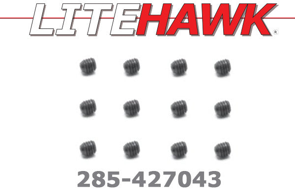 285-427043 M Chassis - Set Screw 3x3mm  12pcs