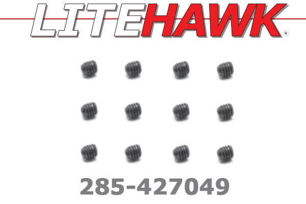 285-427049 M Chassis - Set Screw 3x4mm 12pcs