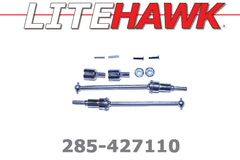 285-427110 M Chassis - Front Dogbones/Shafts/Cups/Nuts/Screws