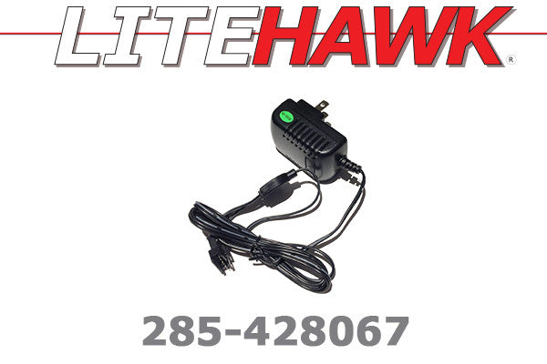 285-428067 C Chassis - Wall Charger Blk Plug 6 Wire