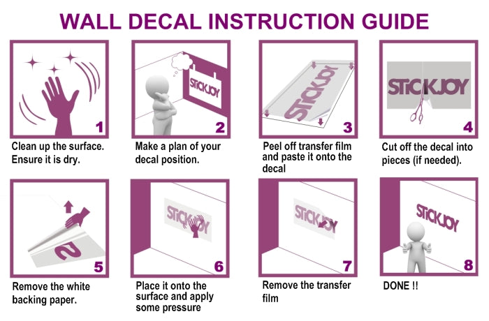 How To Apply Wall Decals Winda  Furniture - How to put a wall decal up