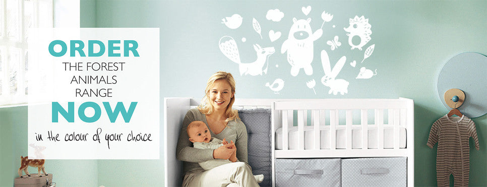 Forest animals range of wall decals