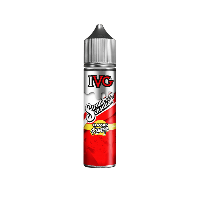 IVG STRAWBERRY SENSATION 50ML FREE NIC SHOT INC - I Love Vapour E-Juice IVG