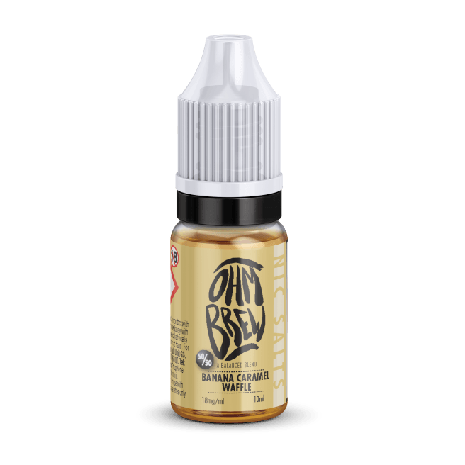 BANANA CARAMEL WAFFLE NIC SALT BY OHM BREW - I Love Vapour nic salts I Love Vapour